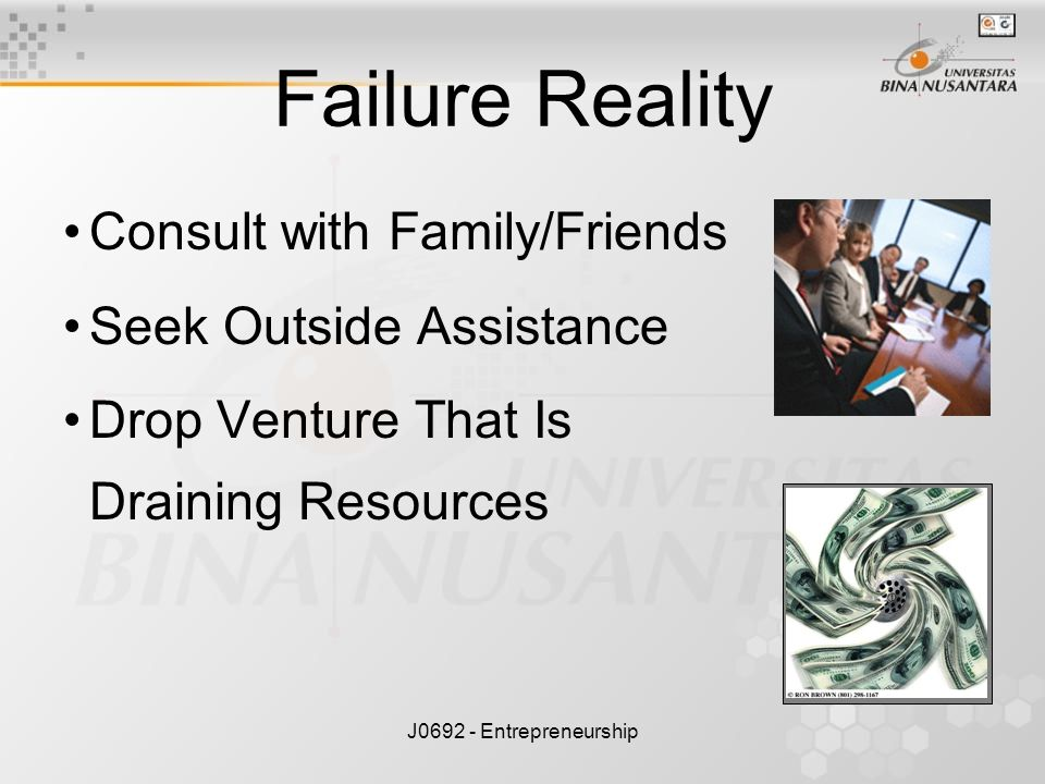 Failure Reality Consult with Family/Friends Seek Outside Assistance