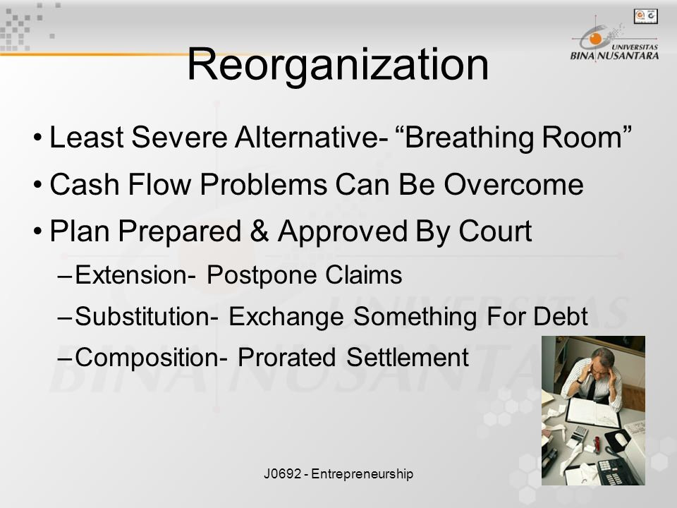 Reorganization Least Severe Alternative- Breathing Room