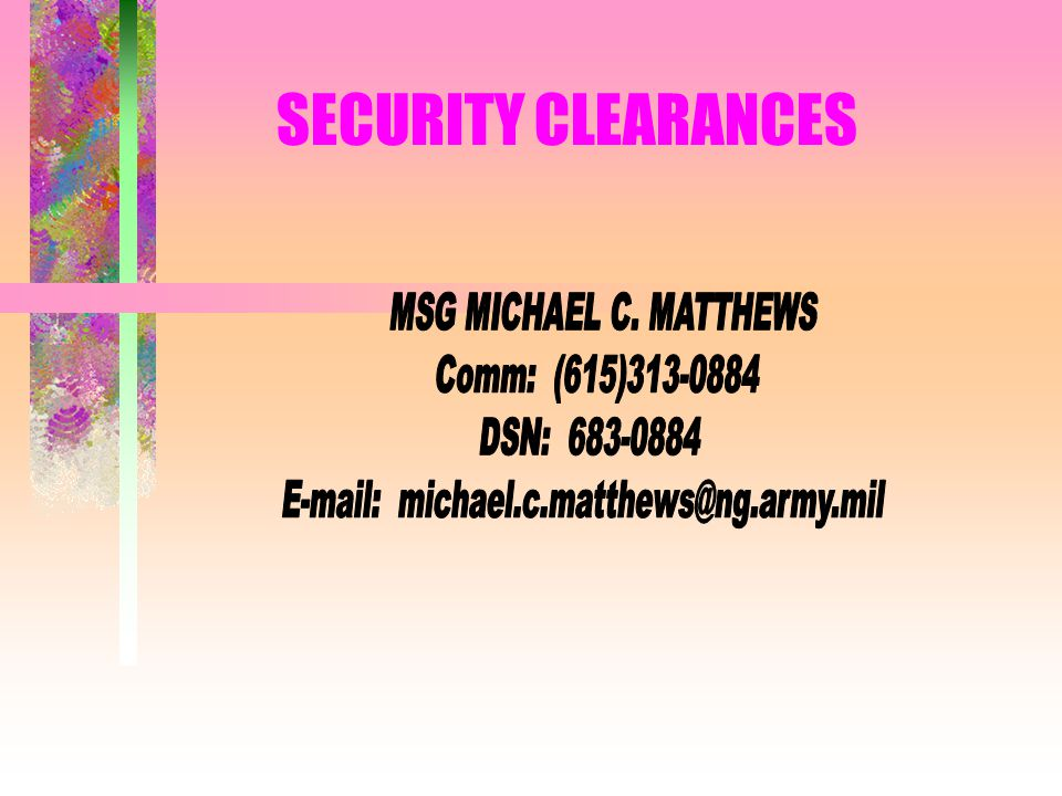E-mail: michael.c.matthews@ng.army.mil