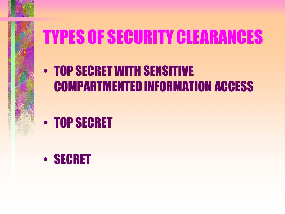 Not dating a girl for a security clearance
