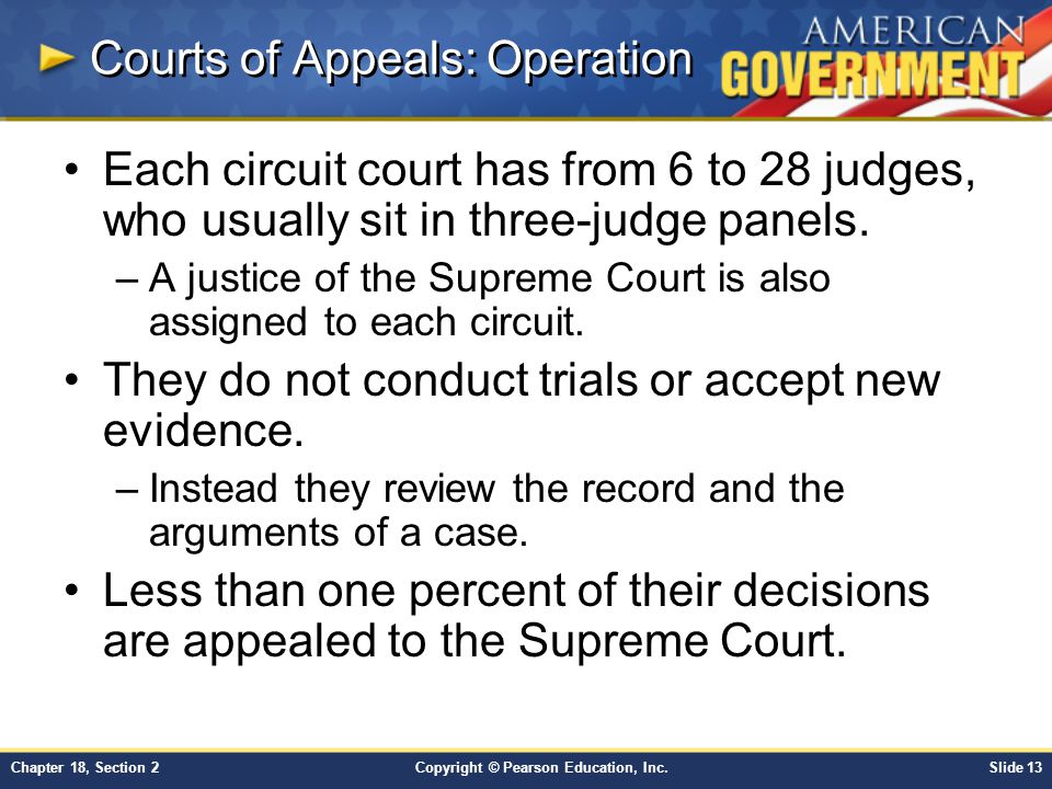 Courts of Appeals: Operation