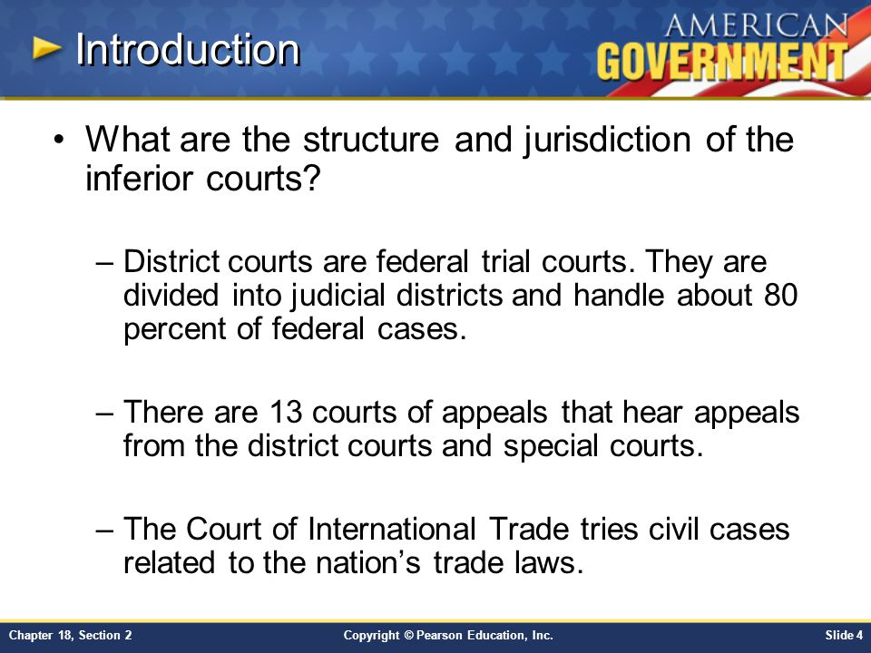 Introduction What are the structure and jurisdiction of the inferior courts