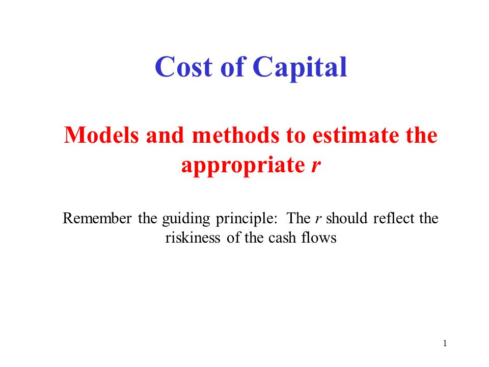 Models and methods to estimate the appropriate r