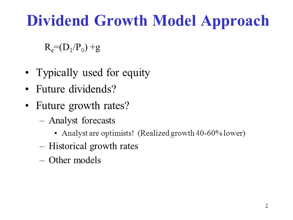 Dividend Growth Model Approach