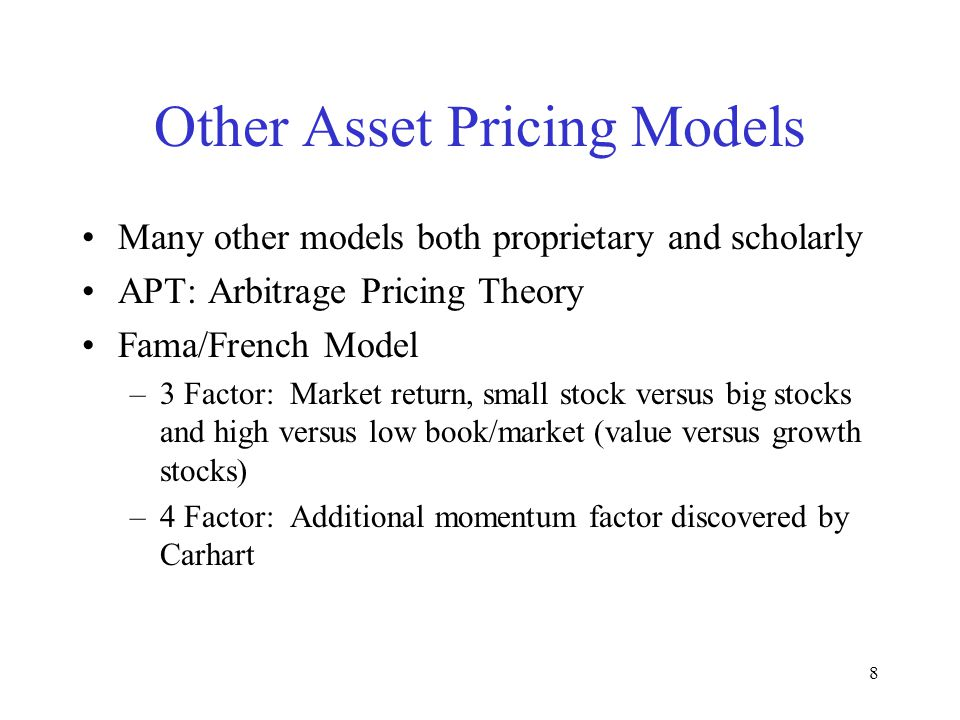 Other Asset Pricing Models