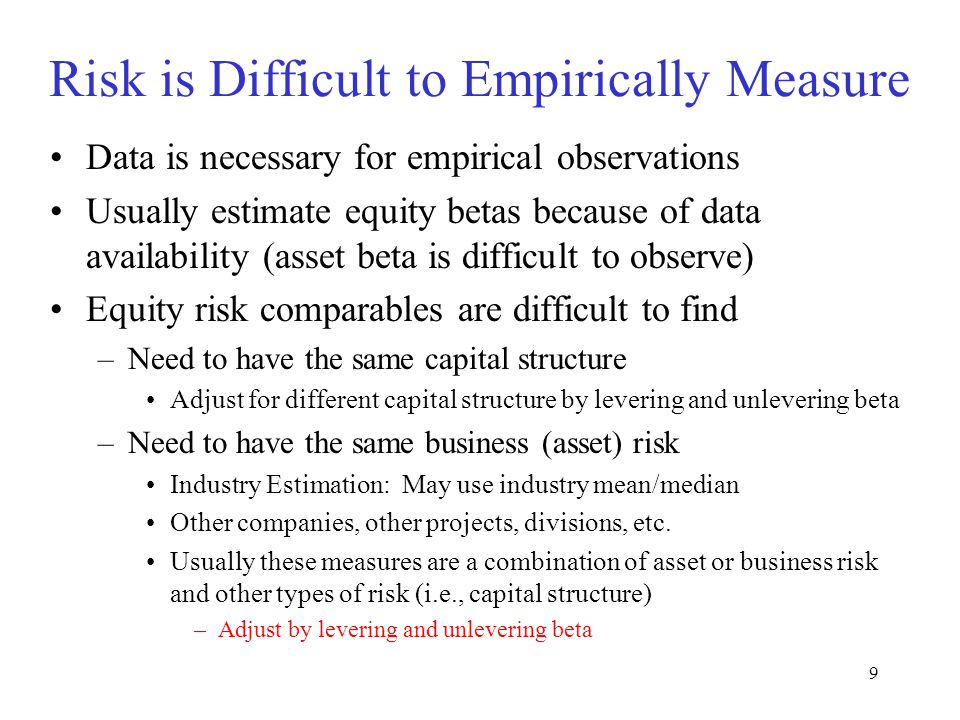 Risk is Difficult to Empirically Measure