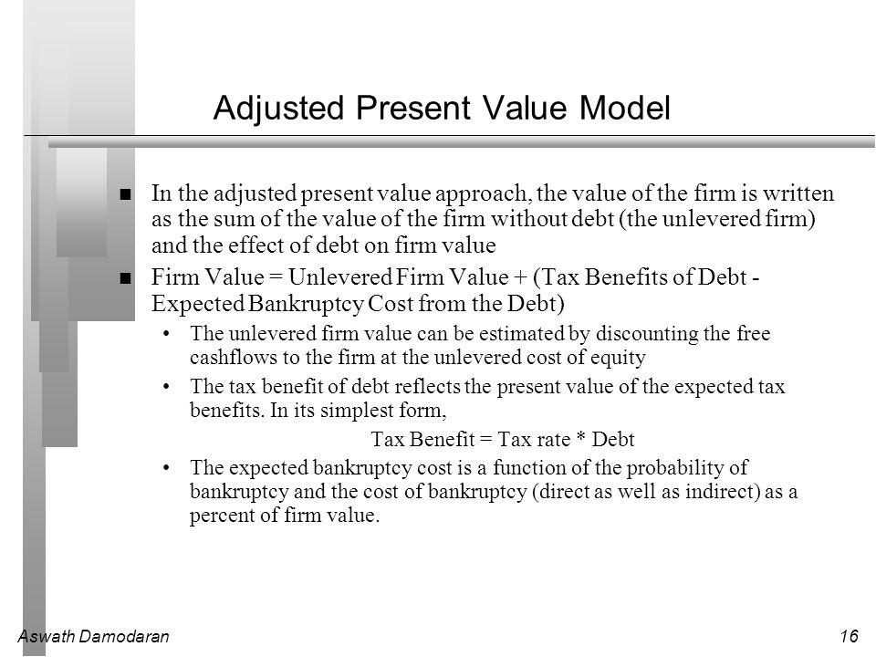 Adjusted Present Value Model