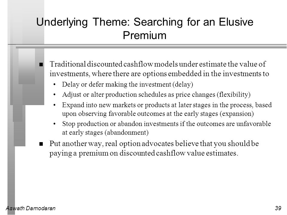 Underlying Theme: Searching for an Elusive Premium