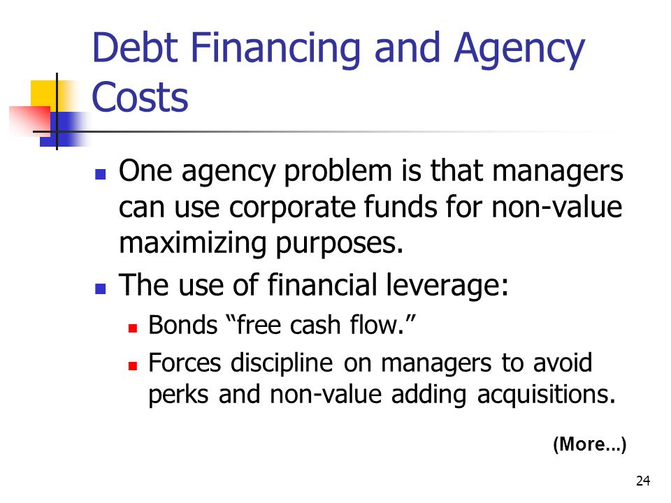 Debt Financing and Agency Costs
