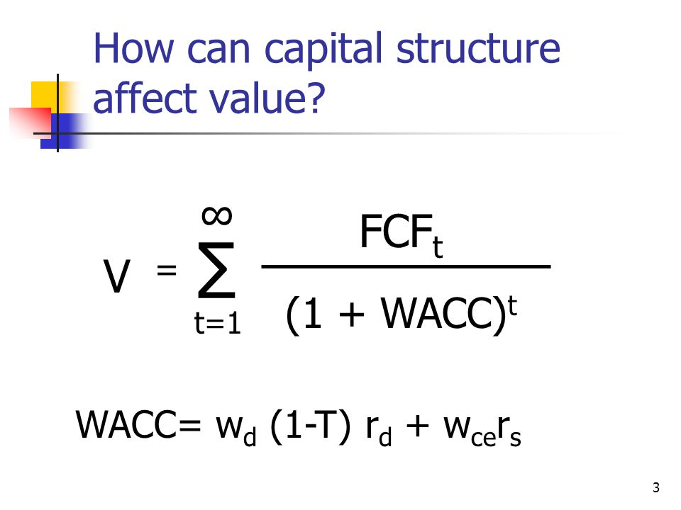 How can capital structure affect value