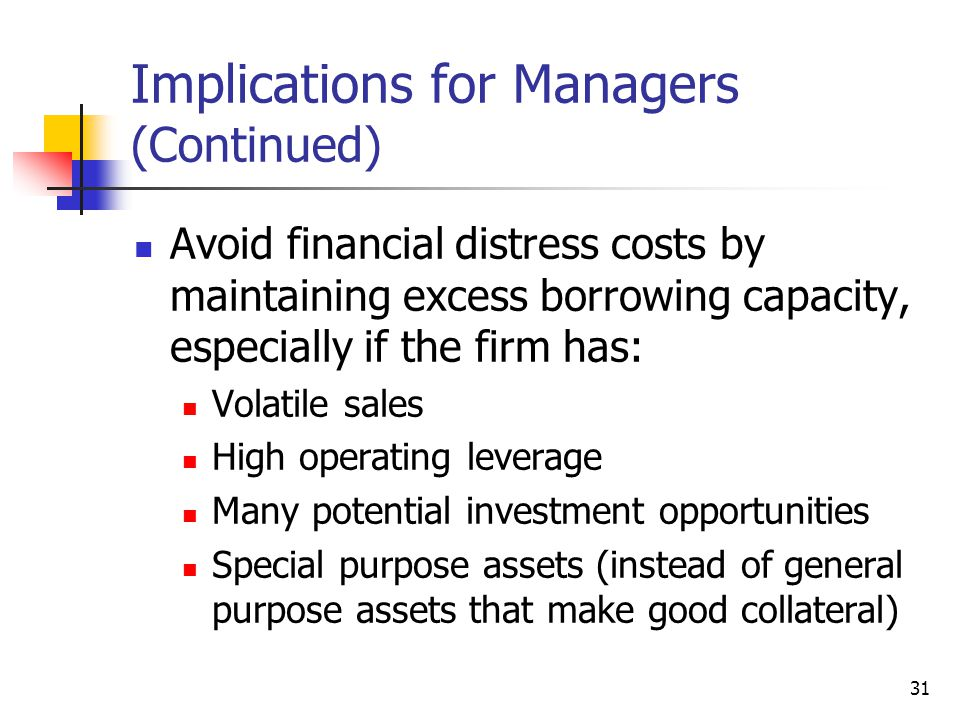 implication regarding management