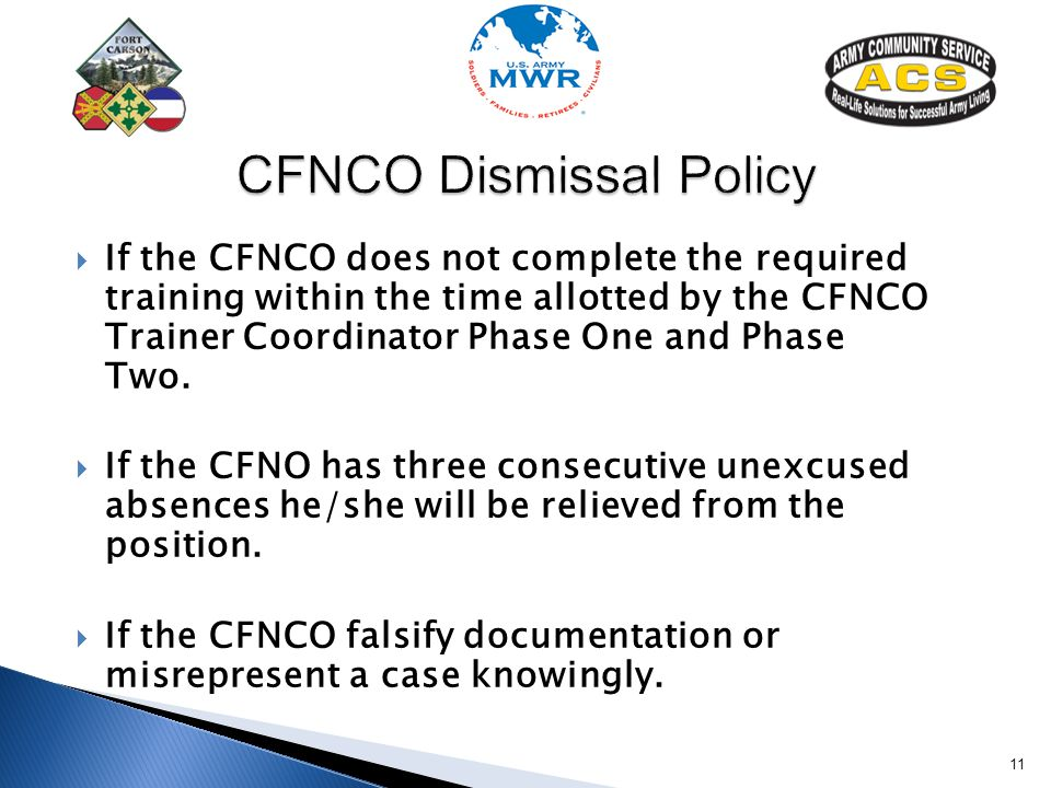 CFNCO Dismissal Policy