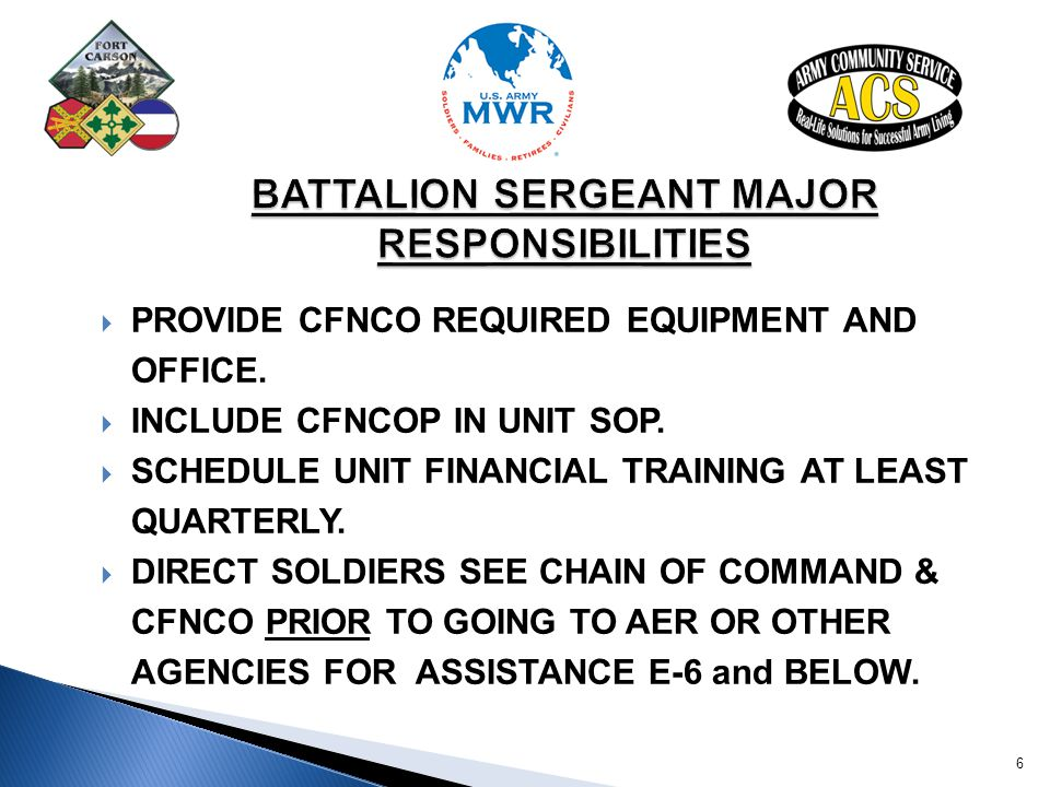 BATTALION SERGEANT MAJOR RESPONSIBILITIES