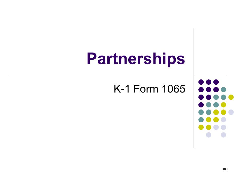 Partnerships K-1 Form 1065