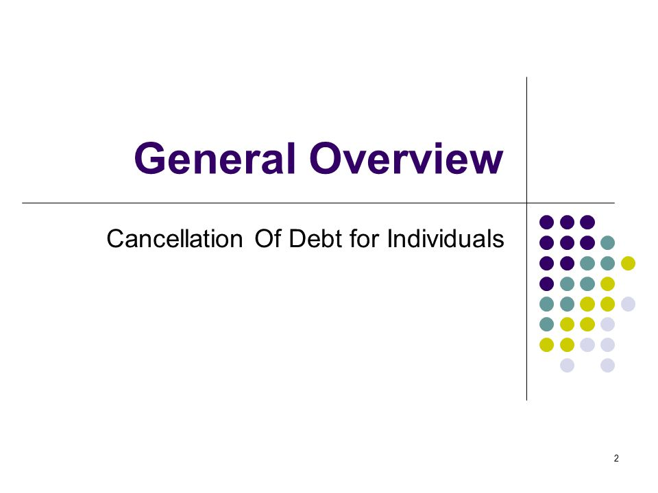 Cancellation Of Debt for Individuals
