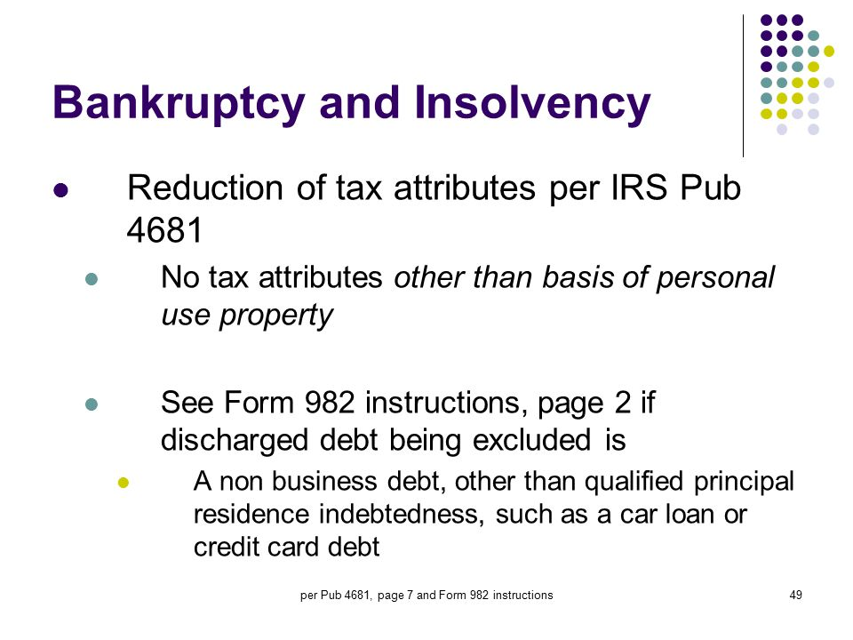 October 16 2008 Tucson AZ by Tom Rex CPA ppt download – Irs Form 982 Worksheet