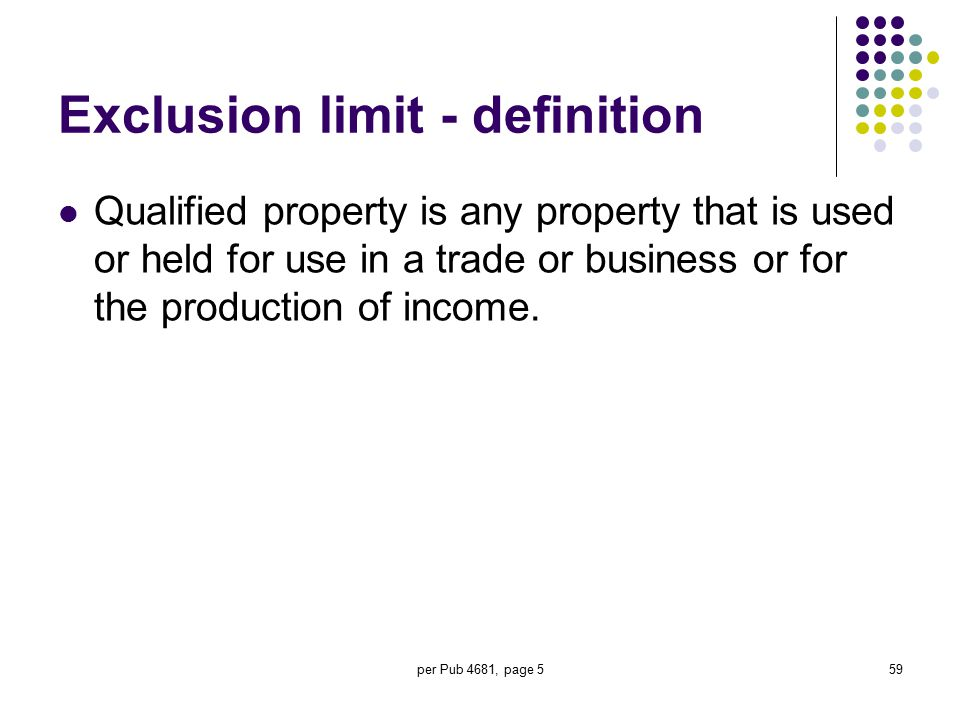 Exclusion limit - definition