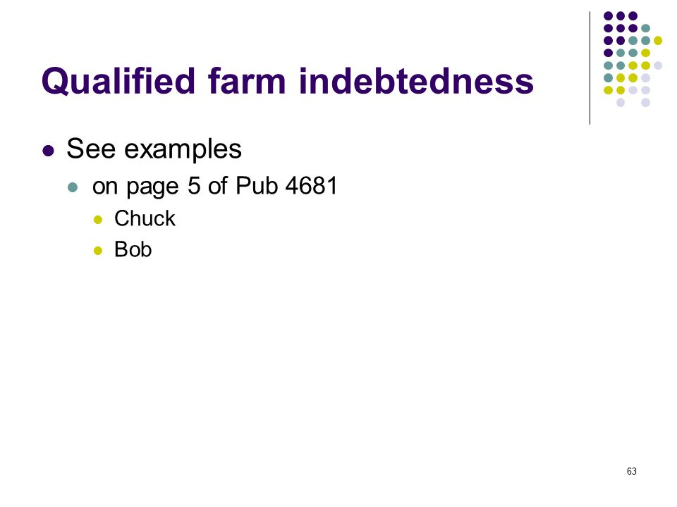 Qualified farm indebtedness