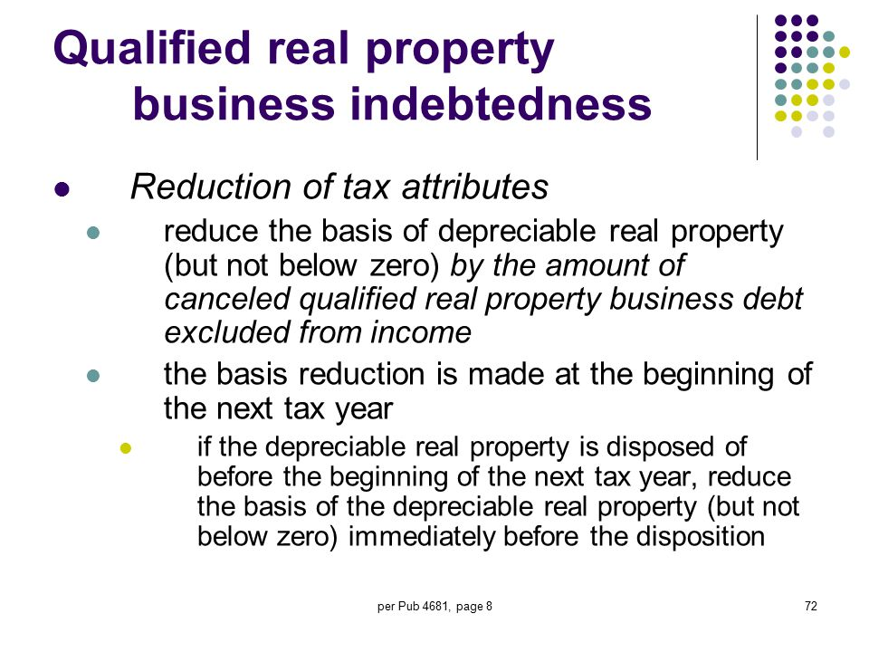 Qualified real property business indebtedness