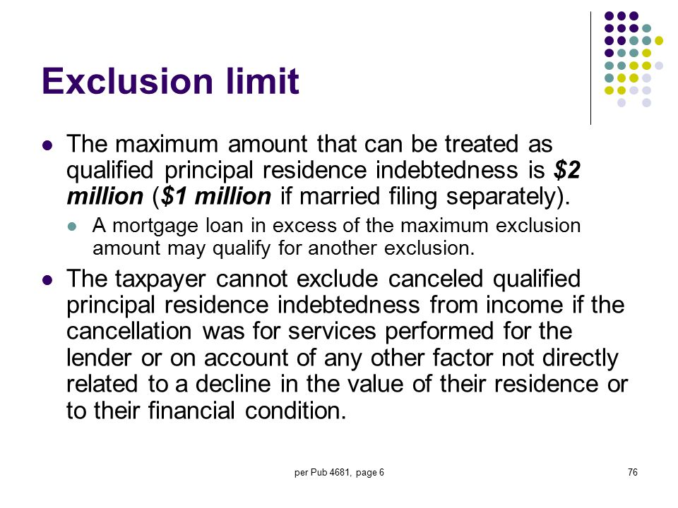 Exclusion limit