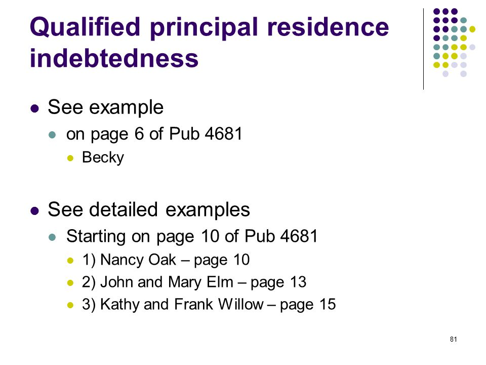 Qualified principal residence indebtedness