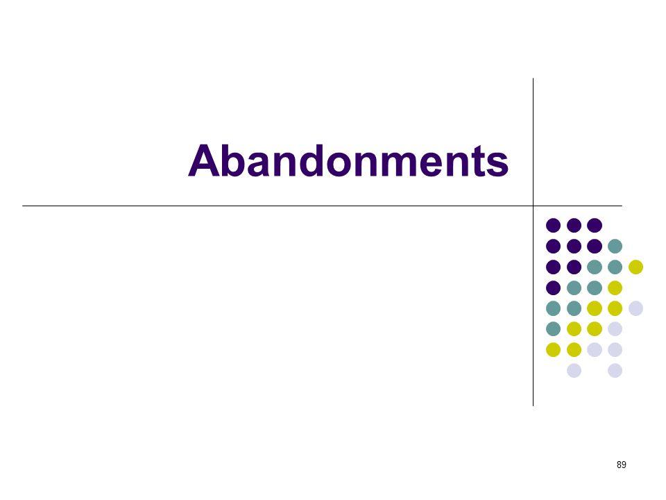 Abandonments