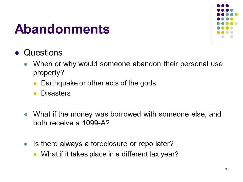 Abandonments Questions