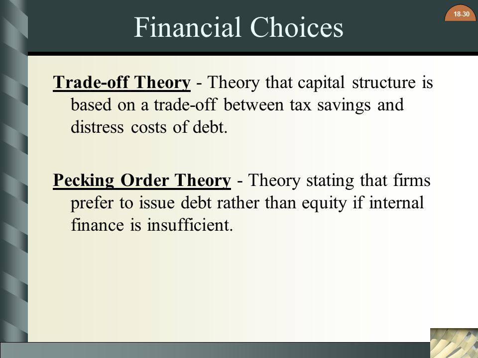 Financial Choices