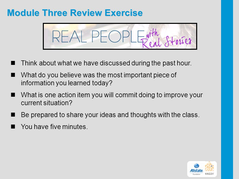Module Three Review Exercise