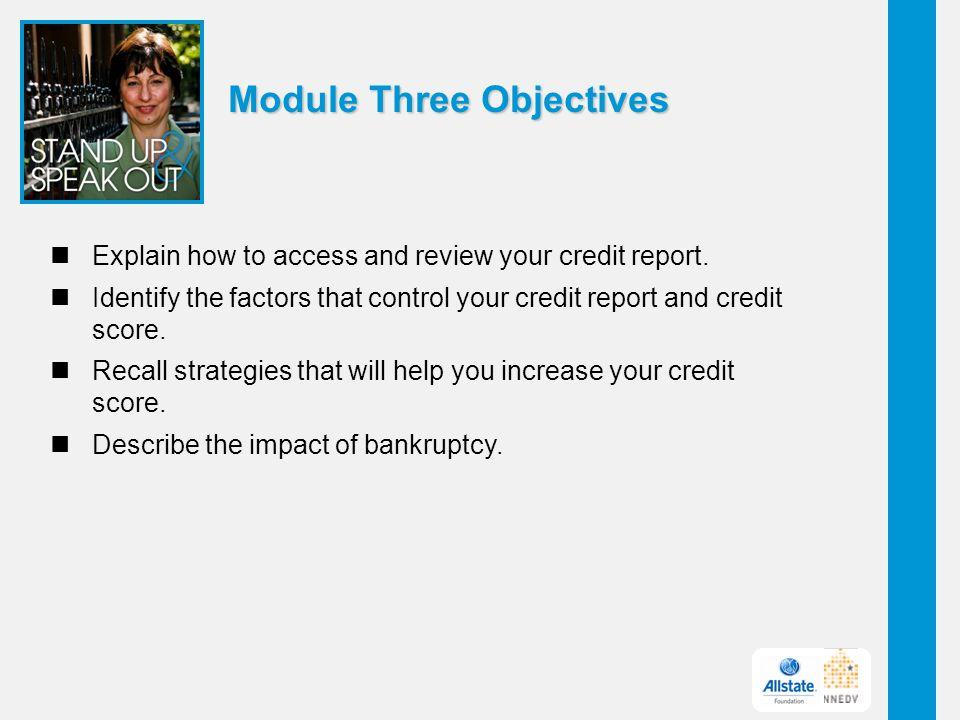 Module Three Objectives