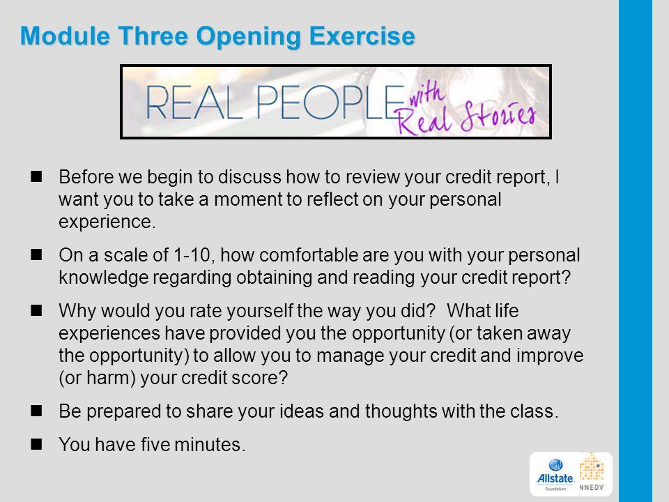 Module Three Opening Exercise