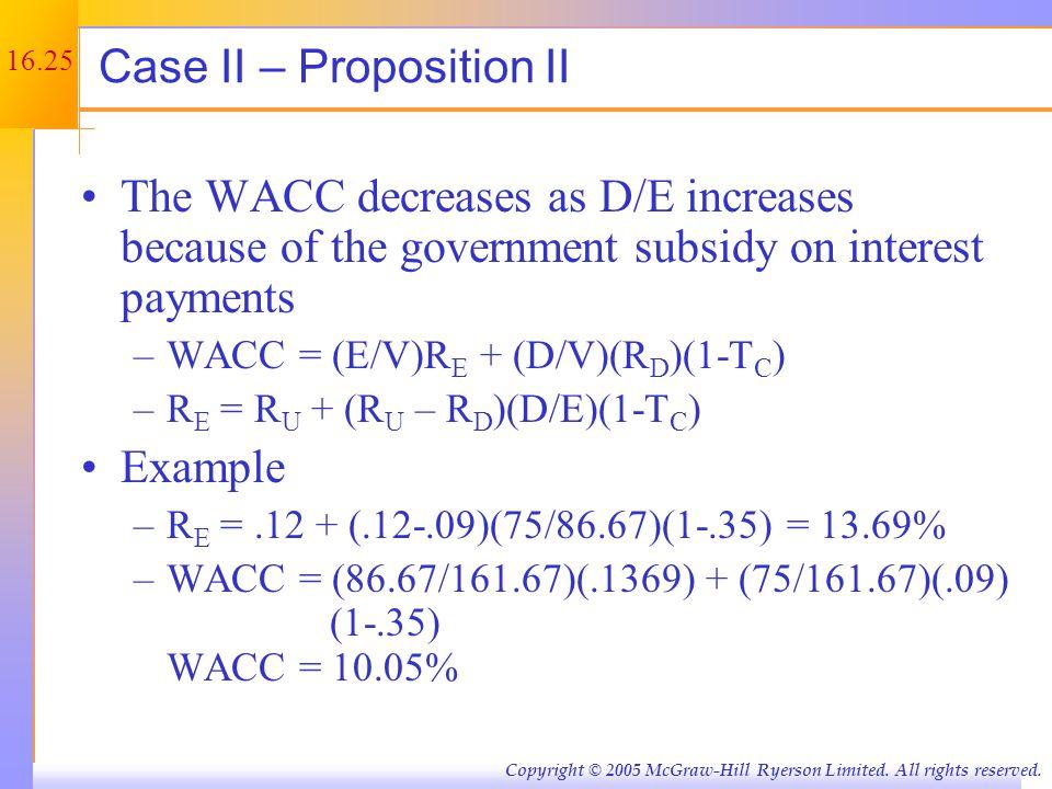 Example: Case II – Proposition II