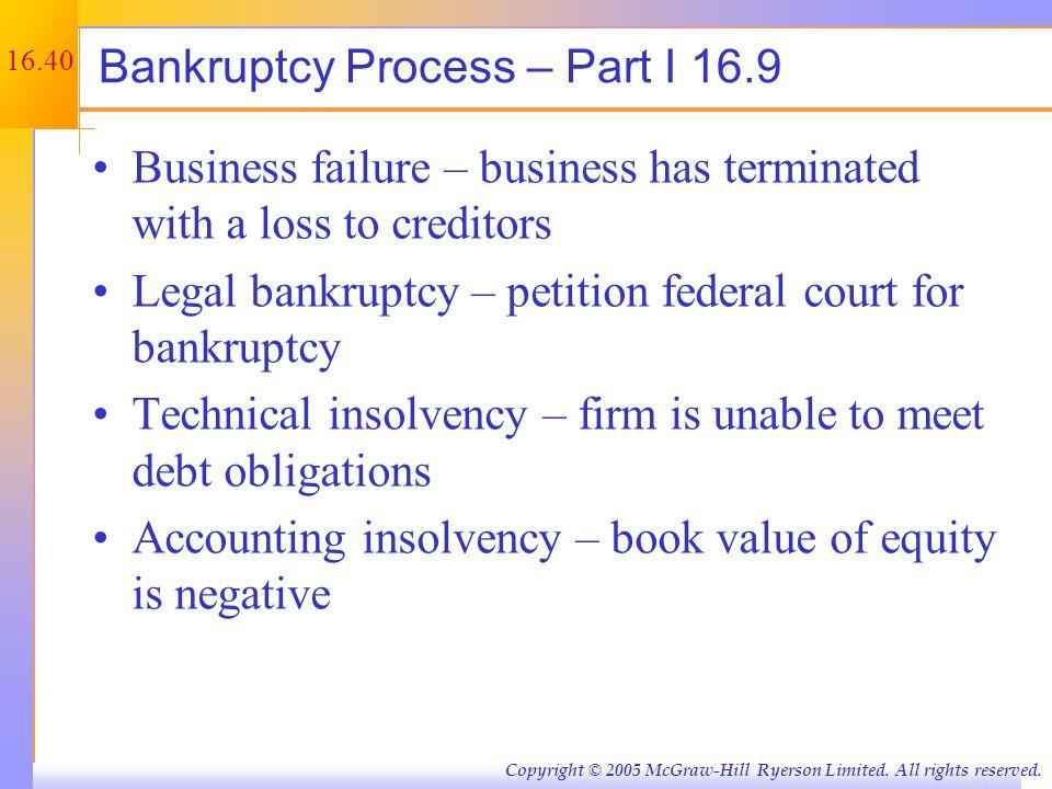 Bankruptcy Process – Part II