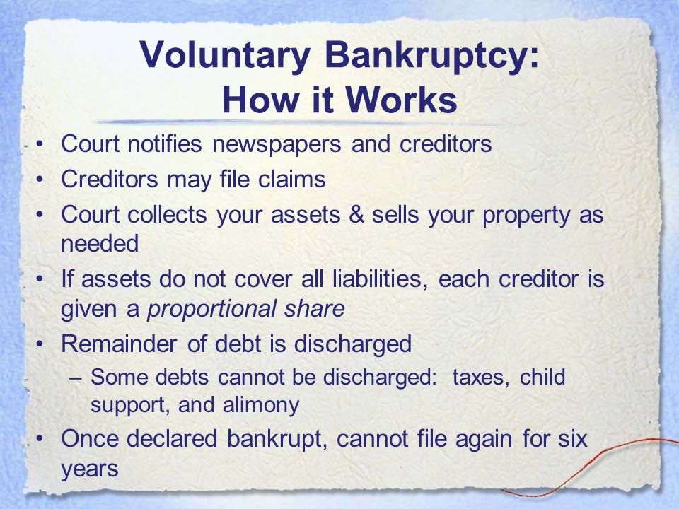 Voluntary Bankruptcy: How it Works