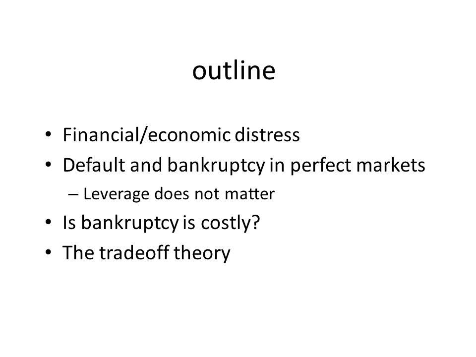 outline Financial/economic distress
