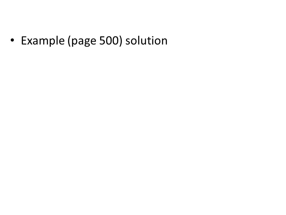 Example (page 500) solution