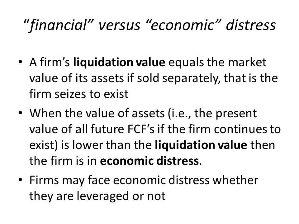 financial versus economic distress