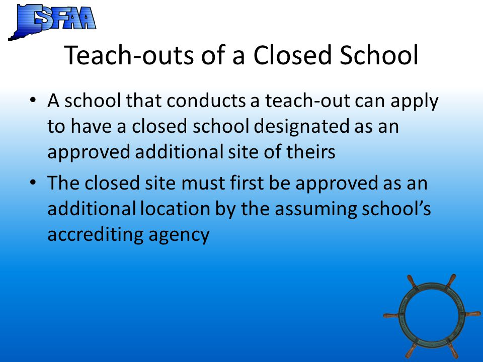 Teach-outs of a Closed School