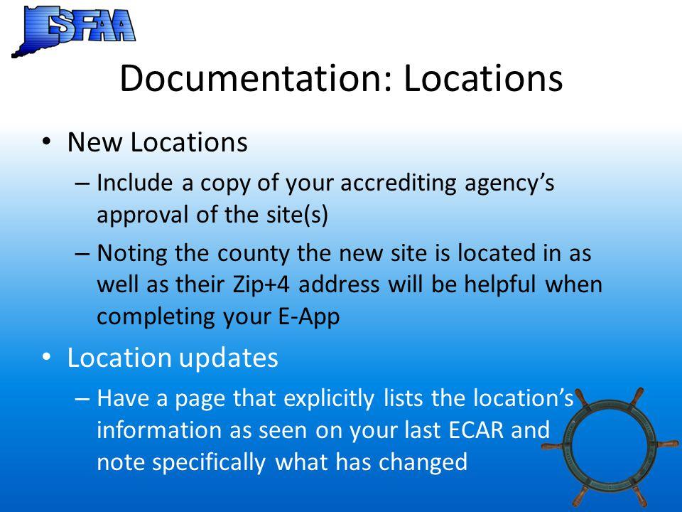 Documentation: Locations