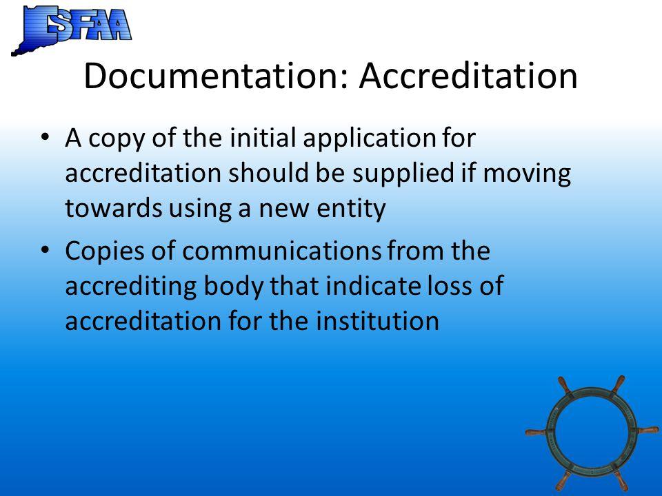 Documentation: Accreditation