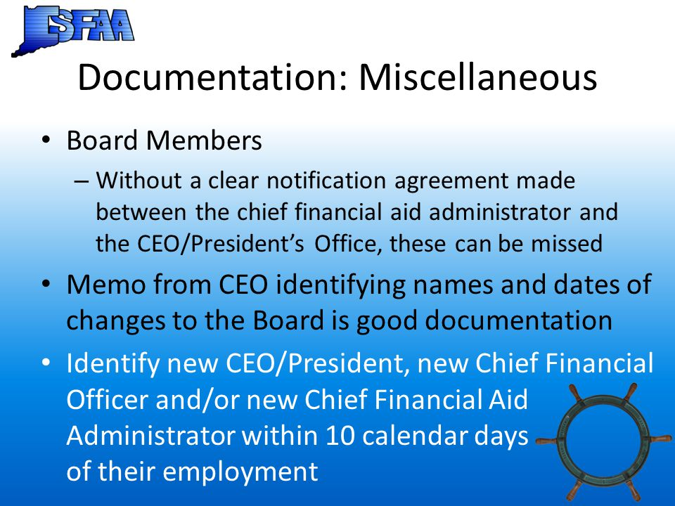 Documentation: Miscellaneous