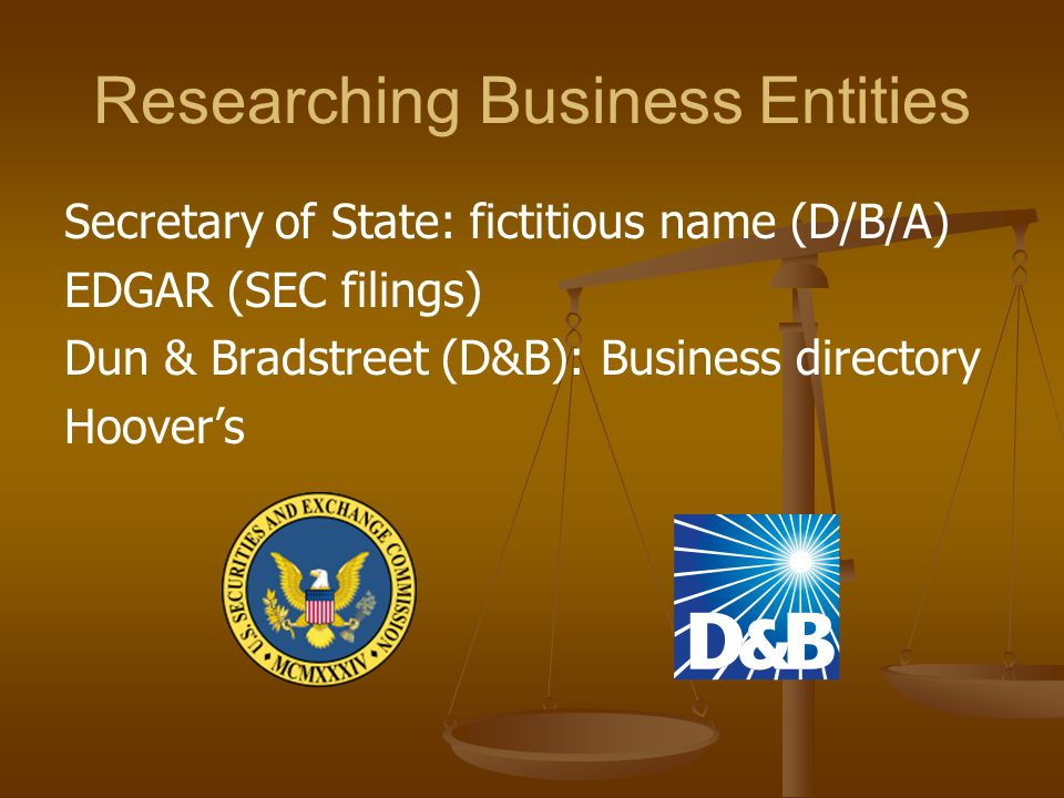 Researching Business Entities