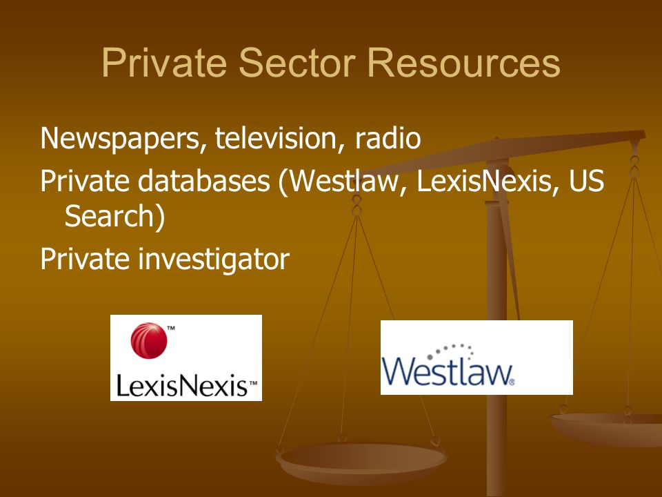 Private Sector Resources