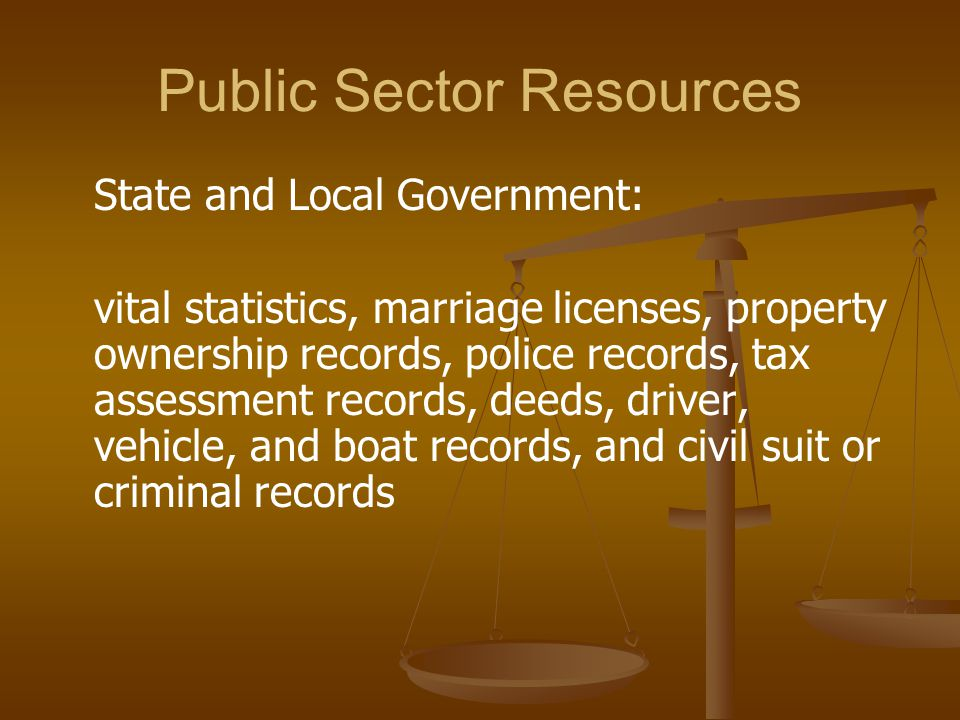 Public Sector Resources