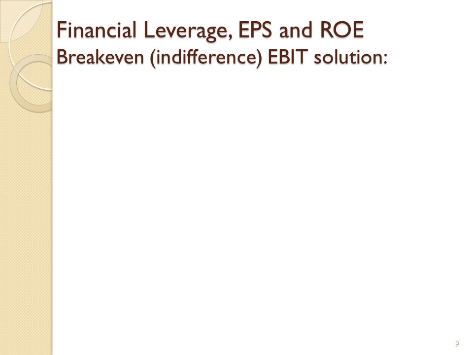 Homemade Leverage and ROE