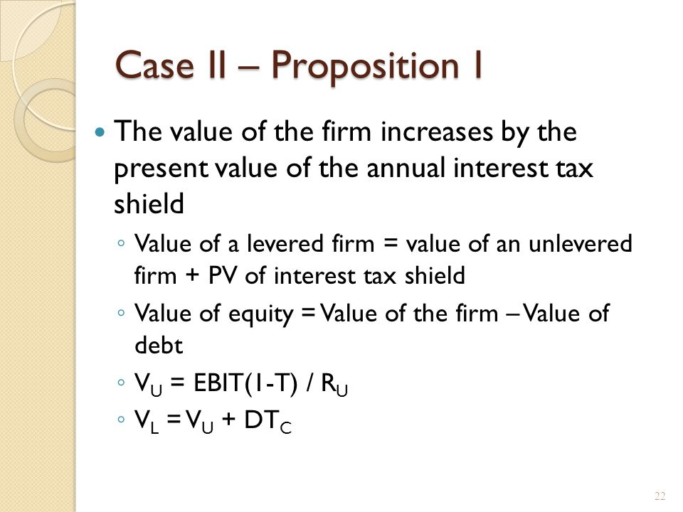 Case II – Proposition I, example