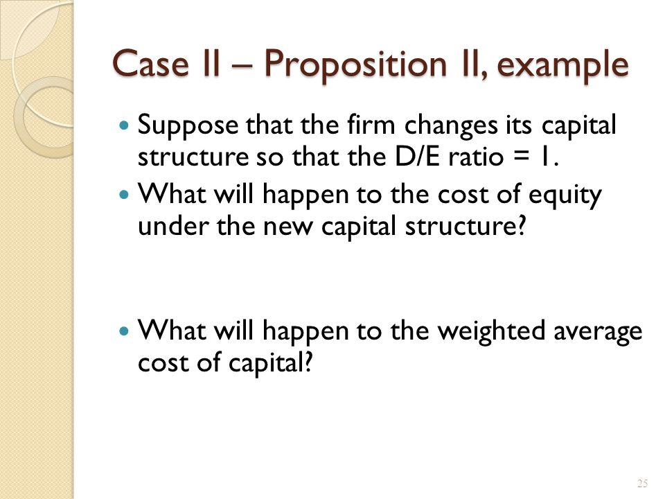 Case III – with Bankruptcy Costs
