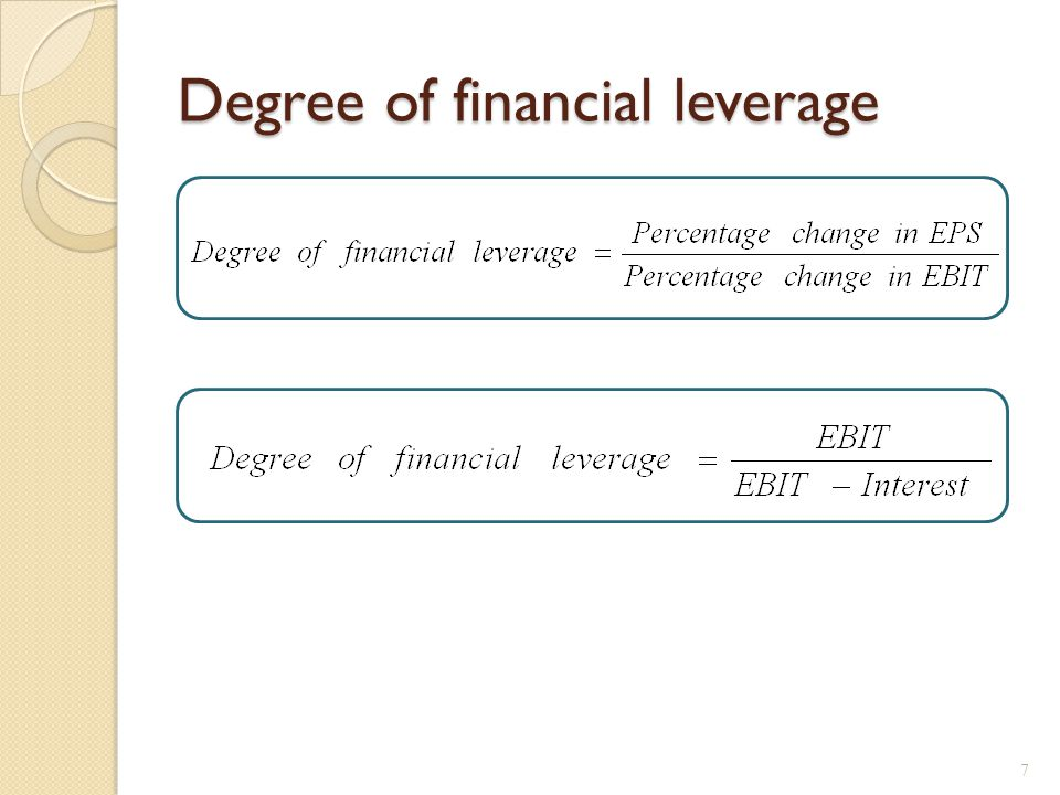Break-Even EBIT Find EBIT where EPS is the same under both the current and proposed capital structures.
