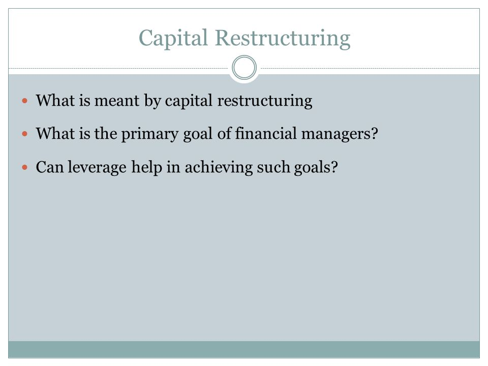 The ADM Kazakhstan Capital Restructuring Fund