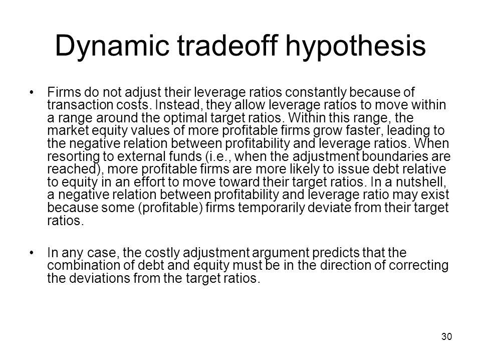 Dynamic tradeoff hypothesis